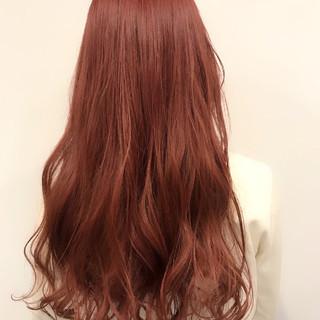 アンニュイ ピンク ベージュ ガーリー ヘアスタイルや髪型の写真・画像