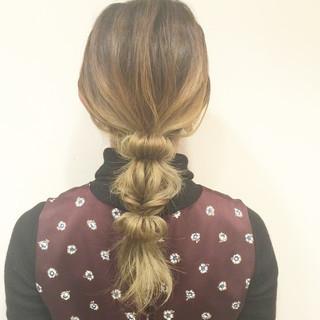 ヘアアレンジ ショート くるりんぱ セミロング ヘアスタイルや髪型の写真・画像 ヘアスタイルや髪型の写真・画像