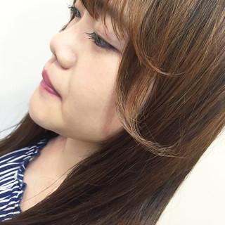 おフェロ 透明感 フェミニン フェザーバング ヘアスタイルや髪型の写真・画像