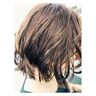 パーマ ミディアム リラックス 大人かわいい ヘアスタイルや髪型の写真・画像