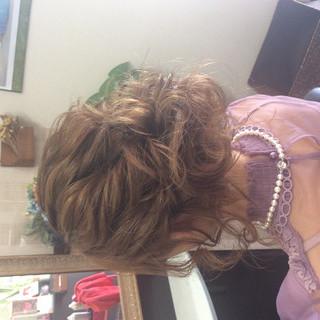 結婚式ヘアアレンジ ナチュラル ヘアアレンジ 結婚式 ヘアスタイルや髪型の写真・画像