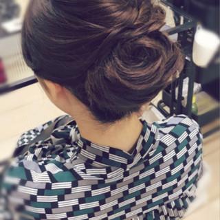 エレガント ヘアアレンジ ロング 和装 ヘアスタイルや髪型の写真・画像 ヘアスタイルや髪型の写真・画像