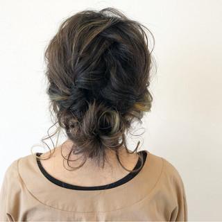 編み込み ヘアアレンジ ミディアム ナチュラル ヘアスタイルや髪型の写真・画像 ヘアスタイルや髪型の写真・画像