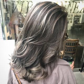 グラデーションカラー セミロング 成人式 外国人風カラー ヘアスタイルや髪型の写真・画像 ヘアスタイルや髪型の写真・画像