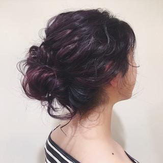パープル アッシュバイオレット ピンク 夏 ヘアスタイルや髪型の写真・画像