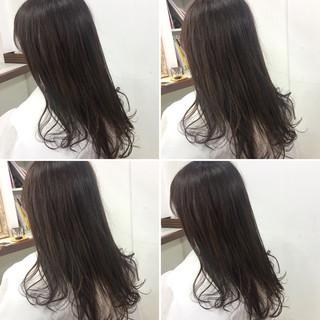 セミロング 大人かわいい ナチュラル ダブルカラー ヘアスタイルや髪型の写真・画像