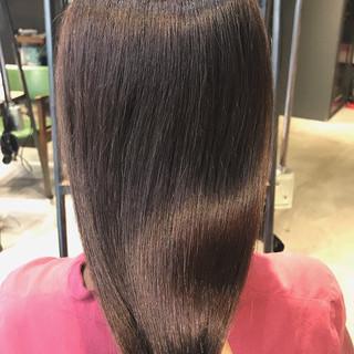 ツヤ髪 大人かわいい 透明感カラー ナチュラル ヘアスタイルや髪型の写真・画像