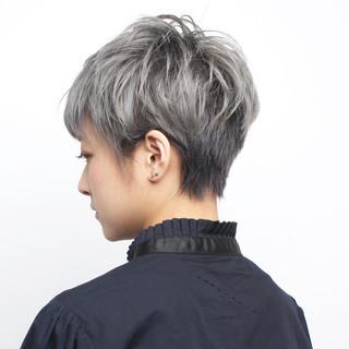 ハンサムショート モード ショートボブ ベリーショート ヘアスタイルや髪型の写真・画像