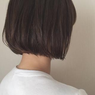 外ハネ ナチュラル 切りっぱなし 大人女子 ヘアスタイルや髪型の写真・画像