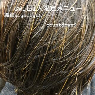透明感カラー ブリーチカラー ショート ハイライト ヘアスタイルや髪型の写真・画像 ヘアスタイルや髪型の写真・画像