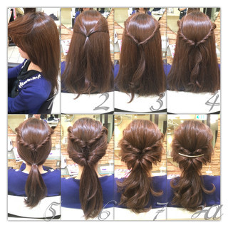 ショート ヘアアレンジ 簡単ヘアアレンジ イルミナカラー ヘアスタイルや髪型の写真・画像
