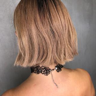 切りっぱなし ストリート 外国人風 ボブ ヘアスタイルや髪型の写真・画像