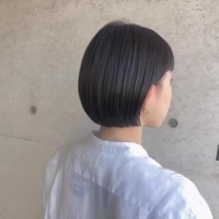 ナチュラル 切りっぱなしボブ ショートボブ ミニボブ ヘアスタイルや髪型の写真・画像