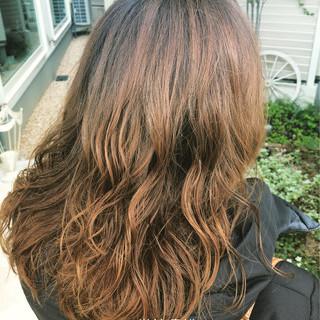 ストリート グラデーションカラー 大人かわいい ロング ヘアスタイルや髪型の写真・画像