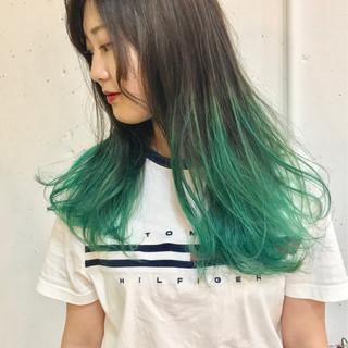 ロング カラーバター ハイトーン ストリート ヘアスタイルや髪型の写真・画像 ヘアスタイルや髪型の写真・画像