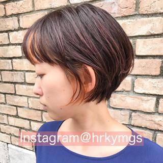 ベリーショート インナーカラー ショート ショートヘア ヘアスタイルや髪型の写真・画像
