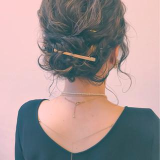 簡単ヘアアレンジ 大人女子 ハーフアップ ショート ヘアスタイルや髪型の写真・画像