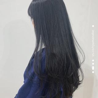 ロング レイヤーロングヘア レイヤーカット ワンカール ヘアスタイルや髪型の写真・画像