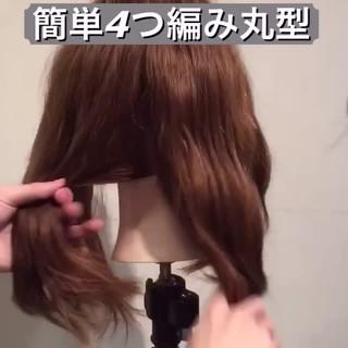 セミロング ショート 簡単ヘアアレンジ ゆるふわ ヘアスタイルや髪型の写真・画像 ヘアスタイルや髪型の写真・画像
