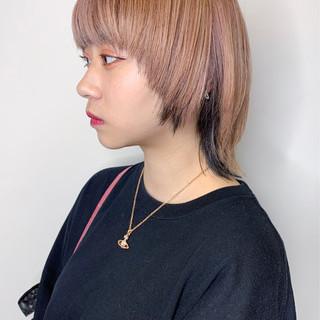 アディクシーカラー インナーカラー ショート ストリート ヘアスタイルや髪型の写真・画像