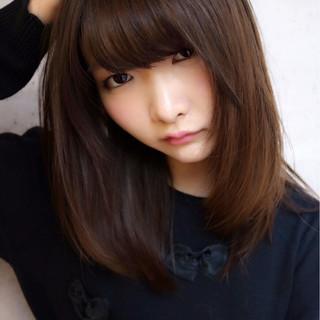 前髪あり ヘアアレンジ 暗髪 ナチュラル ヘアスタイルや髪型の写真・画像 ヘアスタイルや髪型の写真・画像