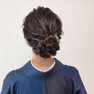 結婚式 和装ヘア ヘアアレンジ 卒業式 ヘアスタイルや髪型の写真・画像