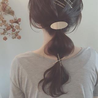 ヘアアレンジ ヘアピン ショート ヘアアクセ ヘアスタイルや髪型の写真・画像