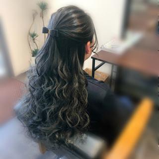ヘアセット ヘアアレンジ 結婚式 フェミニン ヘアスタイルや髪型の写真・画像