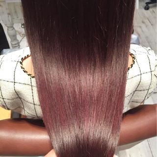 ロング パープル アッシュ ピンク ヘアスタイルや髪型の写真・画像