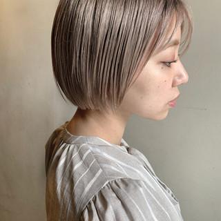 ブリーチ必須 ブリーチオンカラー ブリーチ ショート ヘアスタイルや髪型の写真・画像