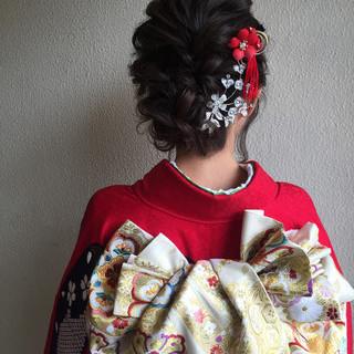 結婚式 振袖 二次会 成人式 ヘアスタイルや髪型の写真・画像 ヘアスタイルや髪型の写真・画像