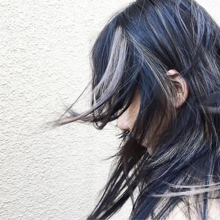 インナーカラー ロング ダブルカラー 外国人風 ヘアスタイルや髪型の写真・画像