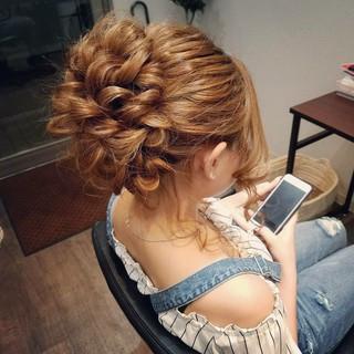 フェミニン ヘアアレンジ パーティ アップスタイル ヘアスタイルや髪型の写真・画像