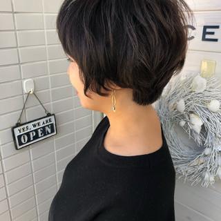 上品 ショートボブ エレガント 女子力 ヘアスタイルや髪型の写真・画像 ヘアスタイルや髪型の写真・画像
