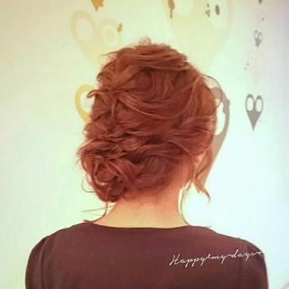 ヘアアレンジ ゆるふわ ミディアム ブライダル ヘアスタイルや髪型の写真・画像