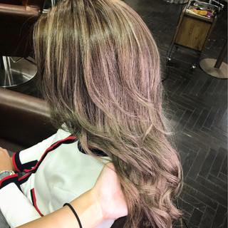 大人女子 エクステ ハイライト グラデーションカラー ヘアスタイルや髪型の写真・画像