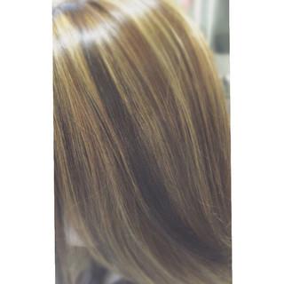 ハイライト ストリート ローライト セミロング ヘアスタイルや髪型の写真・画像