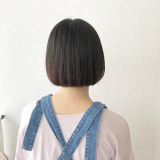 ボブ ショートボブ 外ハネ ガーリー ヘアスタイルや髪型の写真・画像