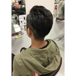 ストリート 黒髪 ショート ボーイッシュ ヘアスタイルや髪型の写真・画像