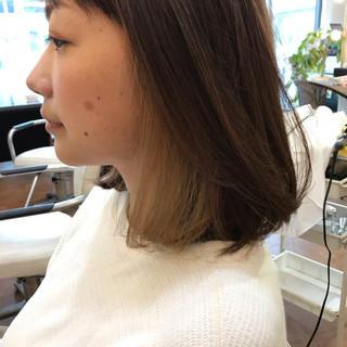 透明感カラー ナチュラル インナーカラー 3Dハイライト ヘアスタイルや髪型の写真・画像