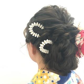 ヘアアレンジ ロング アップスタイル フェミニン ヘアスタイルや髪型の写真・画像 ヘアスタイルや髪型の写真・画像