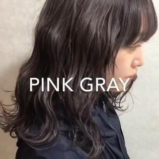 カジュアル モード 外国人風カラー セミロング ヘアスタイルや髪型の写真・画像 ヘアスタイルや髪型の写真・画像