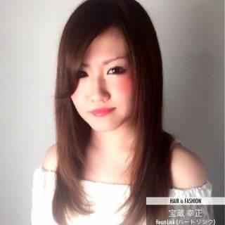 ワンカール ナチュラル 艶髪 ストレート ヘアスタイルや髪型の写真・画像