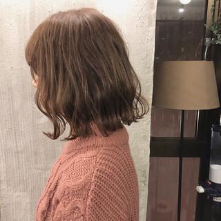 透明感 ボブ ナチュラル ロブ ヘアスタイルや髪型の写真・画像