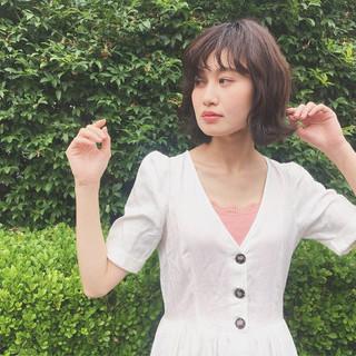 かわいい 透明感 ダブルカラー フェミニン ヘアスタイルや髪型の写真・画像