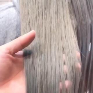バレイヤージュ 結婚式 ロング オフィス ヘアスタイルや髪型の写真・画像