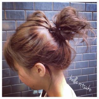 簡単ヘアアレンジ ショート 外国人風 ブルージュ ヘアスタイルや髪型の写真・画像