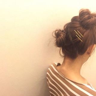 ヘアアレンジ 外国人風 ショート ボブ ヘアスタイルや髪型の写真・画像