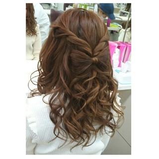 大人女子 デート ガーリー ハーフアップ ヘアスタイルや髪型の写真・画像