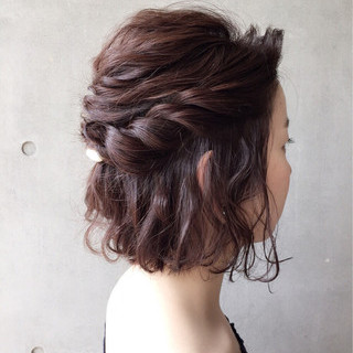 デート 上品 エレガント 簡単ヘアアレンジ ヘアスタイルや髪型の写真・画像